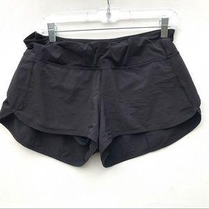 lululemon black speed shorts 10 run times
